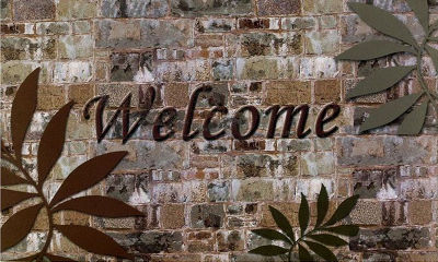 Achim Welcome Palms Rectangular Doormat