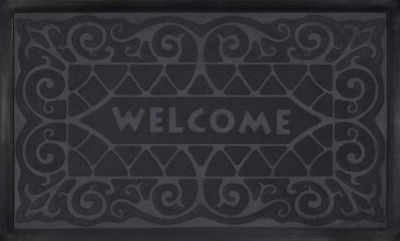 Achim Wrought Iron Rectangular Doormat