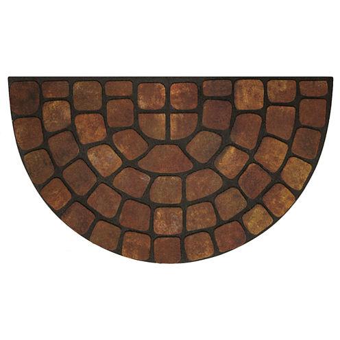 Achim Beige Stone Slice Rectangular Doormat