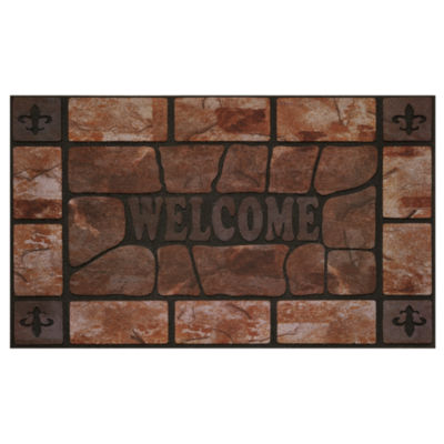 Achim Clay Stone Rectangular Doormat
