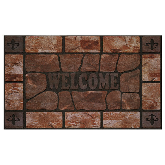 Achim Clay Stone Rectangular Doormat