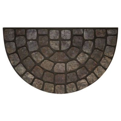 Achim Grey Stone Slice Rectangular Doormat