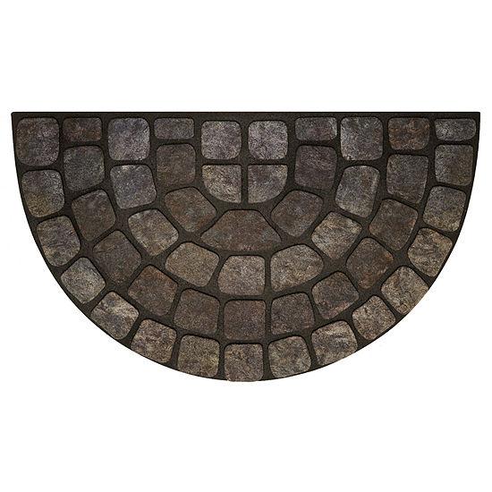 Achim Grey Stone Slice Rectangular Doormat