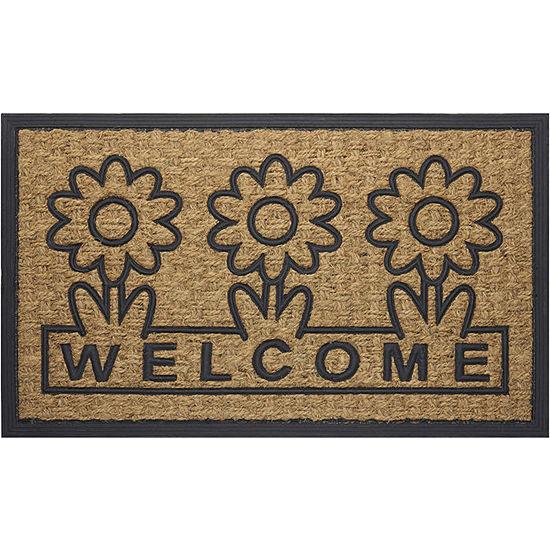 Achim Daisy Rectangular Doormat