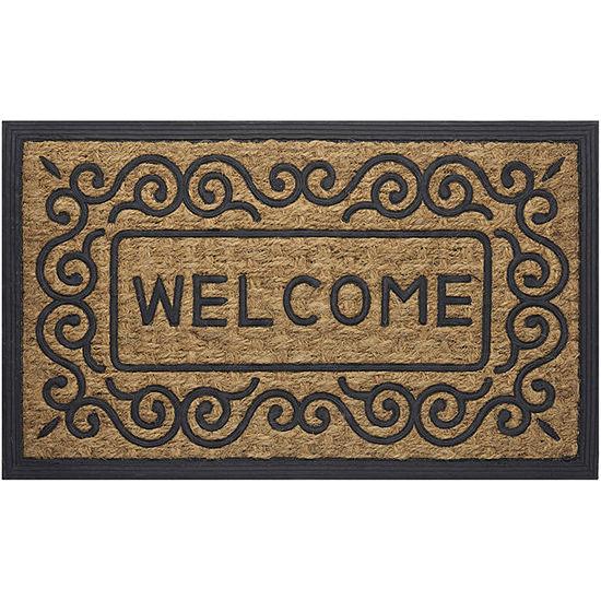 Achim Scrolls Rectangular Doormat