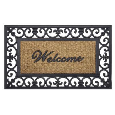 Achim Fleur De Lis Rectangular Doormat