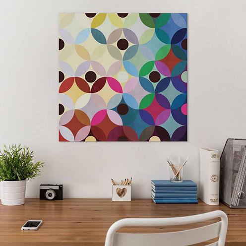 Icanvas Mid Century Modern Art- Circular Motion Canvas Art