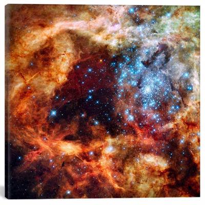 Icanvas R136 Star Cluster Canvas Art