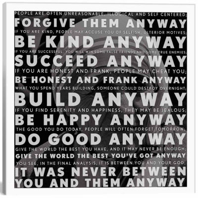 Icanvas Mother Teresa Quote Canvas Art