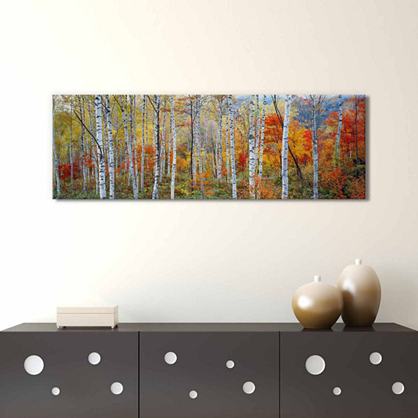 Icanvas Fall Trees; Shinhodaka; Gifu; Japan Canvas Art