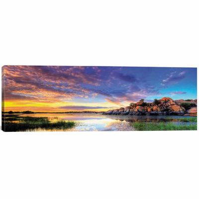 Icanvas Willow Lake Spring Sunset Canvas Art