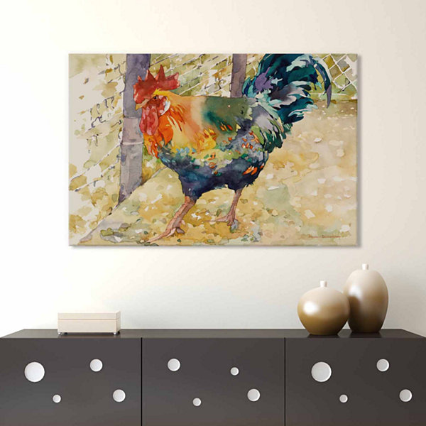 Icanvas Colorful Rooster Canvas Art