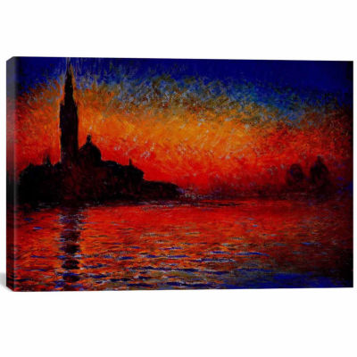 Icanvas Sunset In Venice Canvas Art