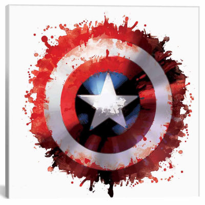 Icanvas Captain'S America Shield Canvas Art