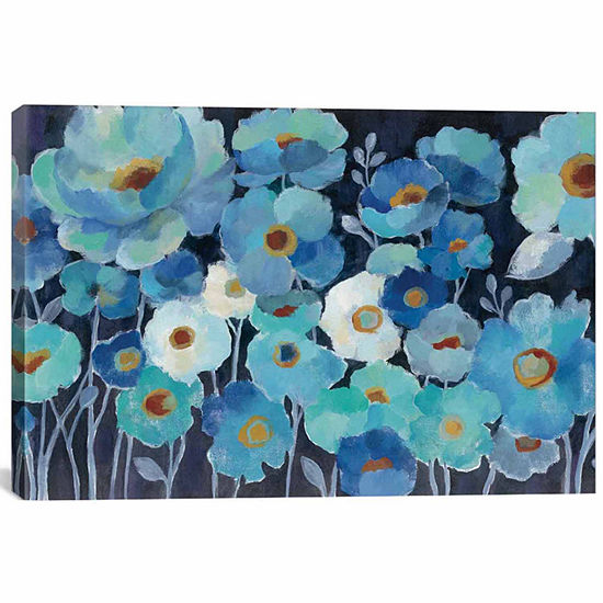 Icanvas Indigo Flowers I Canvas Art