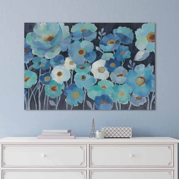 Icanvas Indigo Flowers I Canvas Art