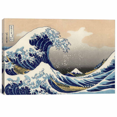 Icanvas The Great Wave At Kanagawa; 1829 Canvas Art