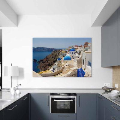 Icanvas Oia; Santorini; Cyclades Islands; Greece Canvas Art