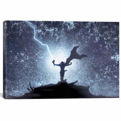 Icanvas Marvel Avengers: Thor Silhouette Canvas Art