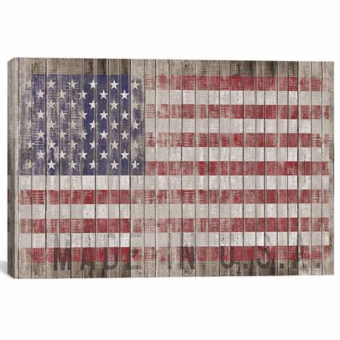 Icanvas American Flag I Canvas Art