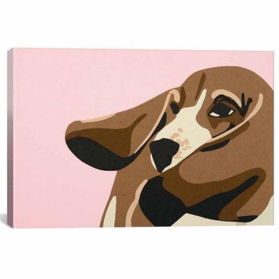 Icanvas Bassett Hound Canvas Art