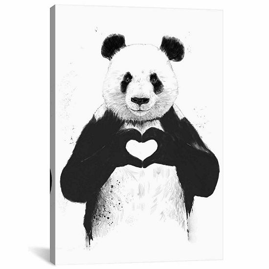 Icanvas All You Need Is Love Canvas Art