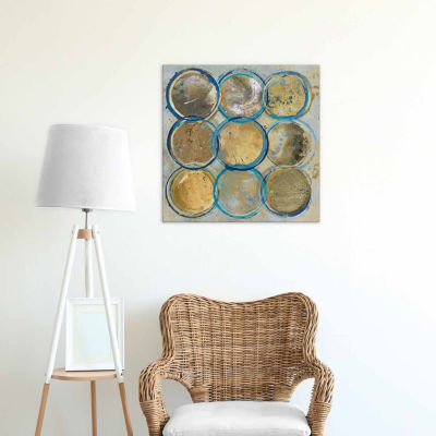 Icanvas Indigo Gold Canvas Art