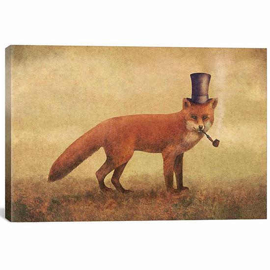 Icanvas Crazy Like A Fox Canvas Art