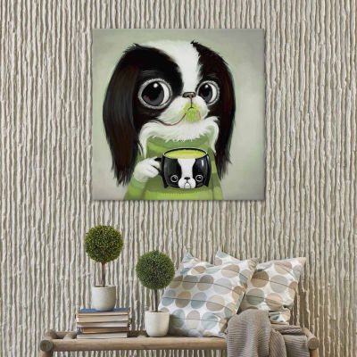 Icanvas Japanese Chins Sips Matcha Latte Canvas Art
