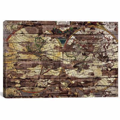 Icanvas Secret Map Canvas Art