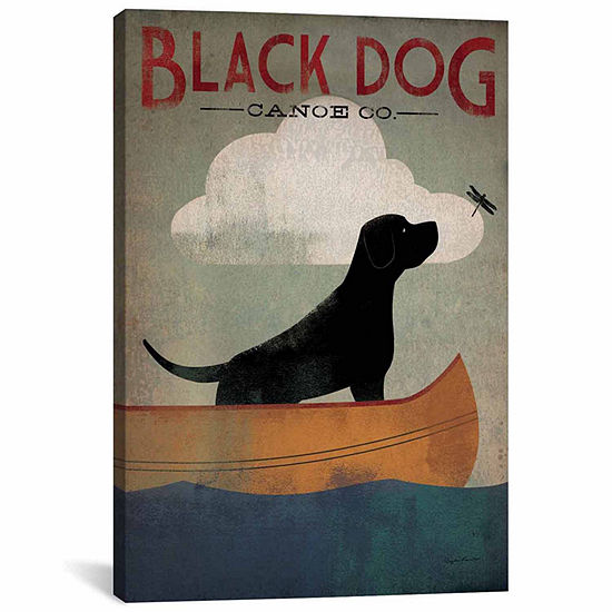Icanvas Black Dog Canoe Co. I Canvas Art