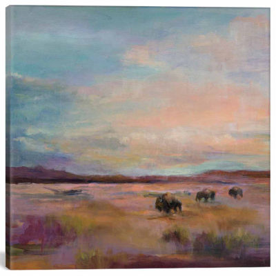 Icanvas Buffalo Under A Big Sky Canvas Art