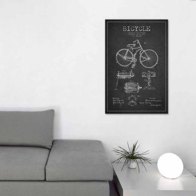 Icanvas bike charcoal patent blueprint canvas art jcpenney icanvas bike charcoal patent blueprint canvas art malvernweather Images