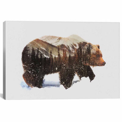 Icanvas Arctic Grizzly Bear Canvas Art