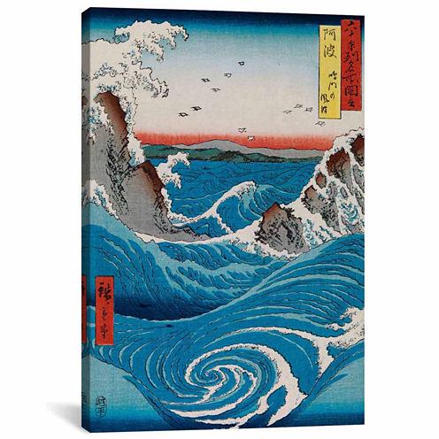 Icanvas The Crashing Waves Canvas Art