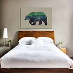 Icanvas Northern Light For Polar Bear Canvas Art