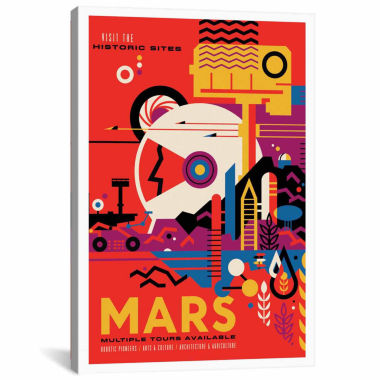 Icanvas Visions Of The Future Series: Mars Canvas Art