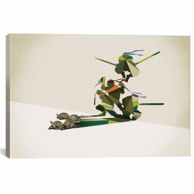Icanvas Walking Shadow Turtles Canvas Art