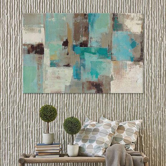 Icanvas Teal And Aqua Reflections #2 Canvas Art