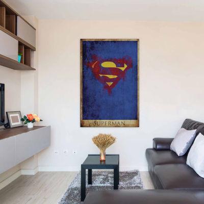 Icanvas Superman Logo Canvas Art
