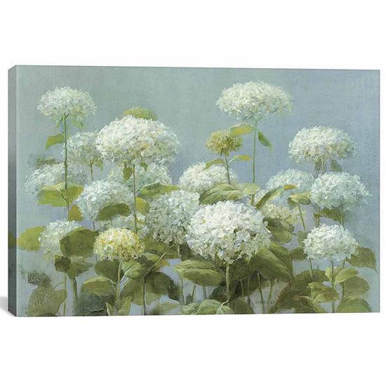 Icanvas White Hydrangea Garden Canvas Art