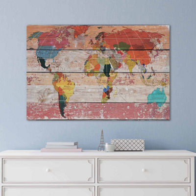 Icanvas World Map Canvas Art