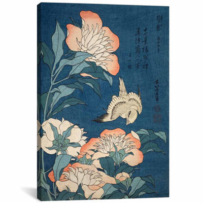 Icanvas Peonies & Canary Canvas Art