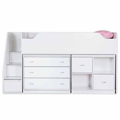 Mobby Loft Bed with Chest and Storage Unit