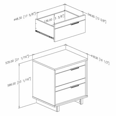 Fynn 2-Drawer Nightstand