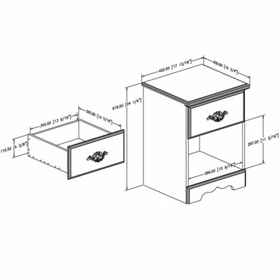 Prarie 1-Drawer Nightstand