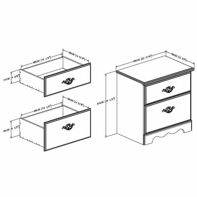 Prarie 2-Drawer Nightstand