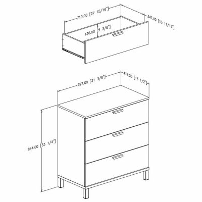 Flexible 3-Drawer Chest