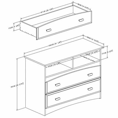 Imagine 2-Drawer Chest