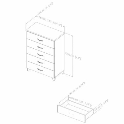 Lazer 5-Drawer Chest